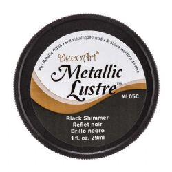 DecoArt Metallic Lustre™ Wax Finish Black Shimmer